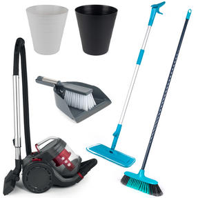 Landlord Box COMBO-3341 Cleaning Essentials, University Student House, 8 Piece Set