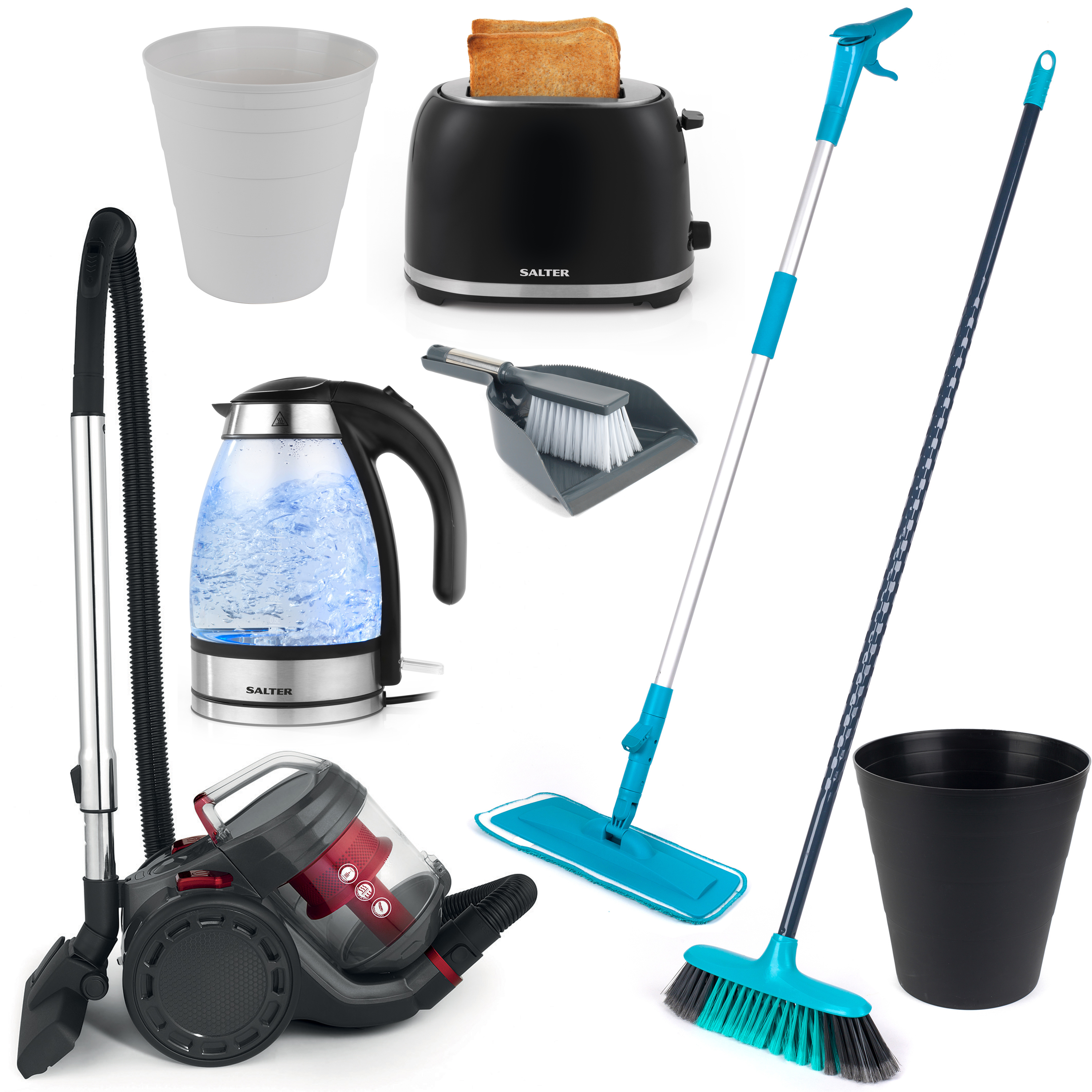 Landlord Box COMBO-3342 Cleaning Essentials, Kettle And