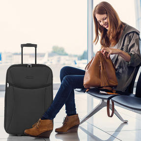 Constellation LG00439SBLKASMIL Eva Cabin Sized Suitcase, 18?, Black Thumbnail 7