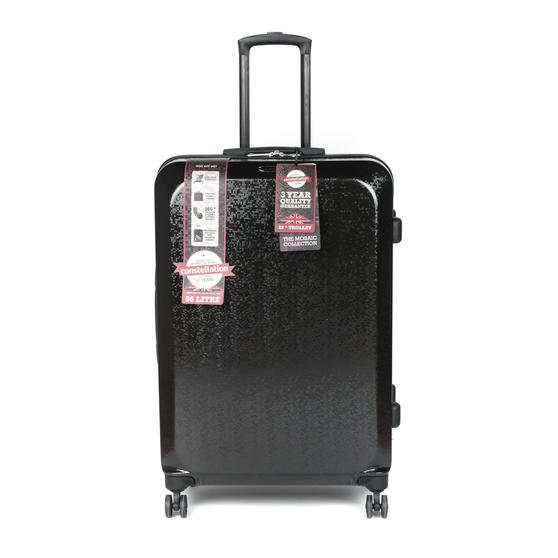 "Constellation Mosaic Two Piece Suitcase Set, 20""/28"", Black"