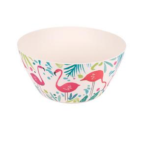 Cambridge CM06342 Reusable Dinnerware Bowls, 14 cm, Set of 4, Flamingo Print | Dishwasher Safe | BPA Free | Alternative to Single Use Plastics