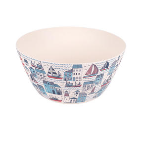 Cambridge CM06352 Large Reusable Serving Bowl, 25 cm, Plymouth Print | Dishwasher Safe | BPA Free | Alternative to Single Use Plastics Thumbnail 1