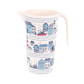 Cambridge CM06354 Large Reusable Water Juice Jug, Pitcher, Carafe, 1.5 L, Plymouth Print | Dishwasher Safe | BPA Free | Alternative to Single Use Plastics