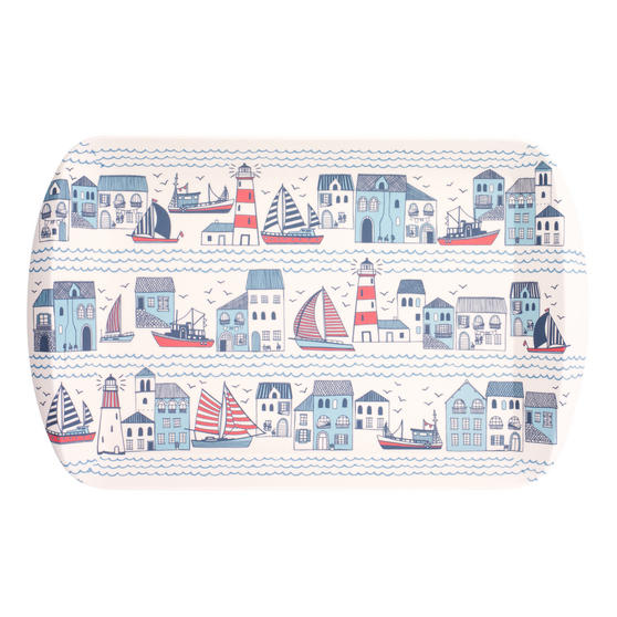 Cambridge Eco Friendly Bamboo Large Serving Tray, Plymouth Print