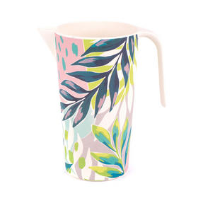 Cambridge CM06338 Large Reusable Water Juice Jug, Pitcher, Carafe, 1.5 L, Kayan Print | Dishwasher Safe | BPA Free | Alternative to Single Use Plastics