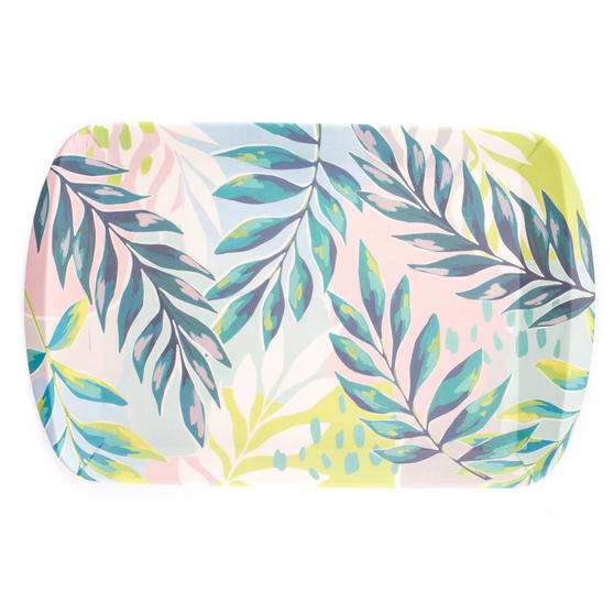 Cambridge Eco Friendly Bamboo Large Serving Tray, Kayan Print