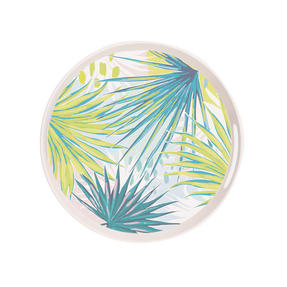 Cambridge CM06340 Kayan Round Reusable Tray | Perfect for Serving Drinks At Parties Thumbnail 2