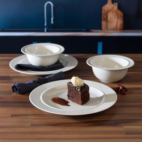 Alessi COMBO-3349 La Bella Tavola Porcelain Dinner Plate and Bowl Set, 8 Piece Thumbnail 2