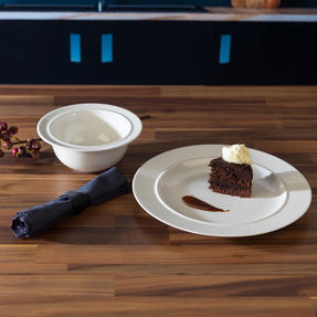 Alessi COMBO-3349 La Bella Tavola Porcelain Dinner Plate and Bowl Set, 8 Piece Thumbnail 3