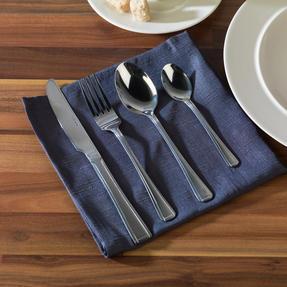 Alessi COMBO-3359 La Bella Tavola Porcelain Dinnerware Plates, Mugs, Bowls and Platter Set with Salter Buxton Cutlery, 76 Piece Thumbnail 5