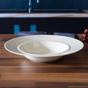 Alessi COMBO-3359 La Bella Tavola Porcelain Dinnerware Plates, Mugs, Bowls and Platter Set with Salter Buxton Cutlery, 76 Piece Thumbnail 8