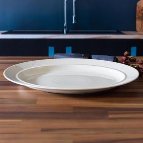 Alessi COMBO-3359 La Bella Tavola Porcelain Dinnerware Plates, Mugs, Bowls and Platter Set with Salter Buxton Cutlery, 76 Piece Thumbnail 9