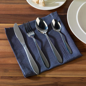 Alessi COMBO-3258 La Bella Tavola Porcelain Dinner Plates and Cereal Bowls with 16 Piece Progress Cutlery Set Thumbnail 3