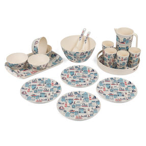Cambridge COMBO-3141 Plymouth Bamboo Eco-Friendly Tableware - 8 Place Setting Thumbnail 1
