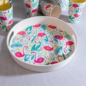 Cambridge COMBO-3145 Flamingos Bamboo Eco Friendly Cups, Jug and Serving Tray - 6 Piece Thumbnail 8