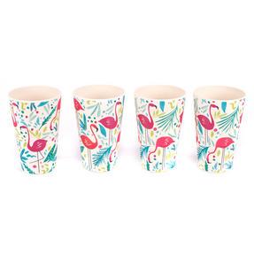 Cambridge COMBO-3145 Flamingos Bamboo Eco Friendly Cups, Jug and Serving Tray - 6 Piece Thumbnail 11