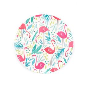 Cambridge COMBO-3146 Flamingos Bamboo Eco Friendly Plates and Bowls Tableware, 8 Piece Thumbnail 4