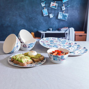 Cambridge COMBO-3149 Plymouth Bamboo Eco Friendly Plates and Bowls Tableware, 8 Piece Thumbnail 5