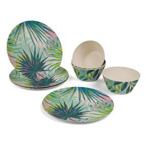 Cambridge COMBO-3152 Kayan Bamboo Eco Friendly Plates and Bowls Tableware, 8 Piece Thumbnail 1