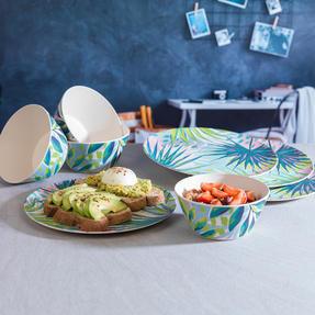 Cambridge COMBO-3152 Kayan Bamboo Eco Friendly Plates and Bowls Tableware, 8 Piece Thumbnail 5