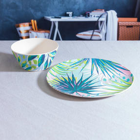 Cambridge COMBO-3152 Kayan Bamboo Eco Friendly Plates and Bowls Tableware, 8 Piece Thumbnail 10
