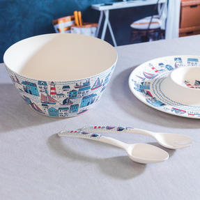 Cambridge COMBO-3334 Plymouth Bamboo Eco-Friendly Chip N Dip Tray, Serving Bowl and Two Utensils Thumbnail 6