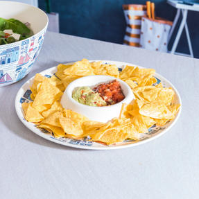 Cambridge COMBO-3334 Plymouth Bamboo Eco-Friendly Chip N Dip Tray, Serving Bowl and Two Utensils Thumbnail 7