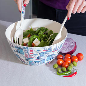 Cambridge COMBO-3334 Plymouth Bamboo Eco-Friendly Chip N Dip Tray, Serving Bowl and Two Utensils Thumbnail 8