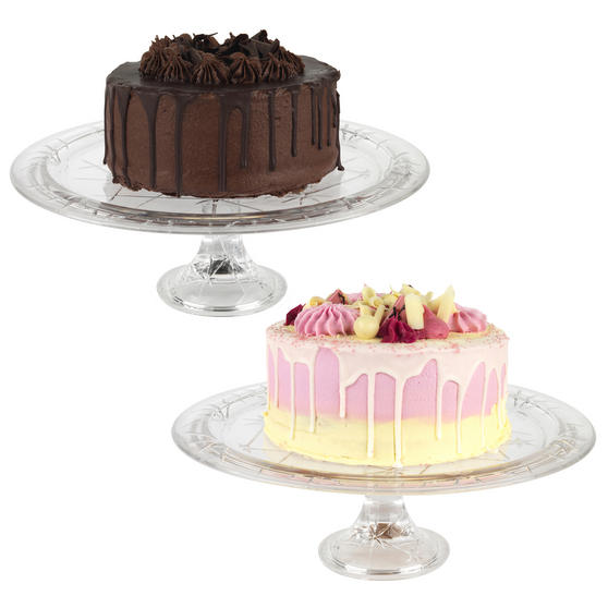 RCR COMBO-1871 Stella Crystal Cake Display and Decorating Stand, Set of 2
