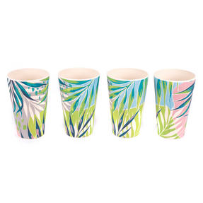 Cambridge CM06333 Eco Friendly Bamboo Dinnerware Cups, Set of 4, Kayan Print Thumbnail 2