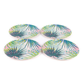 Cambridge CM06335 Reusable Lightweight Dinner Plates, 25 cm, Kayan Print, Set of 4 | Dishwasher Safe | BPA Free | Alternative to Single Use Plastics Thumbnail 2
