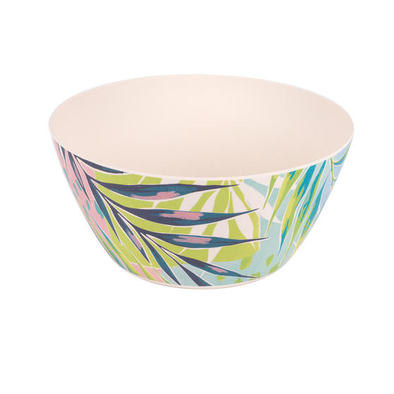 Cambridge Eco Friendly Bamboo Dinnerware Large Serving Bowl, Kayan Print