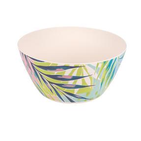 Cambridge CM06336 Eco Friendly Bamboo Dinnerware Large Serving Bowl, Kayan Print Thumbnail 1