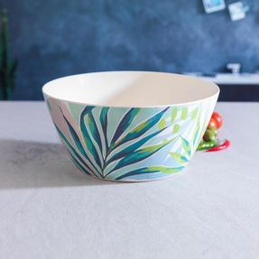 Cambridge CM06336 Eco Friendly Bamboo Dinnerware Large Serving Bowl, Kayan Print Thumbnail 4
