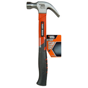 Black + Decker BDHT1-51242 Soft Grip Claw Hammer, 450 g Thumbnail 3