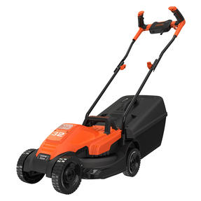 Black + Decker BEMW451BHGB Lawn Mower with Bike Handle, 1200 W, Orange, 32 cm Thumbnail 5