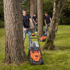 Black + Decker BEMW461ESGB Easy Steer Lawn Mower, 1400 W, Orange, 34cm Thumbnail 5