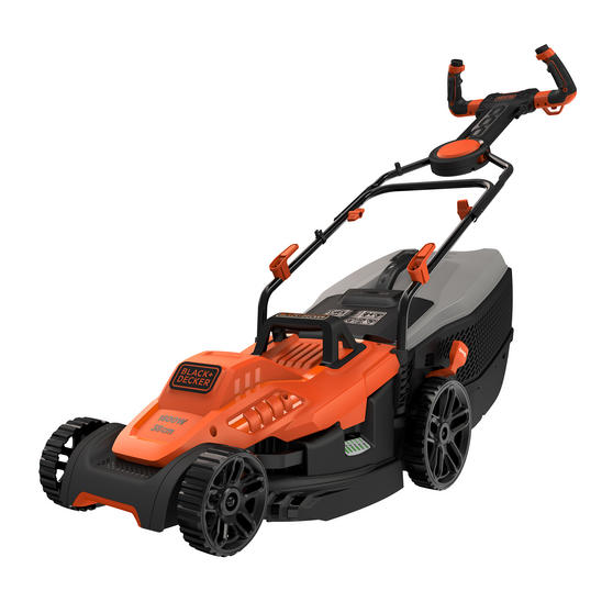 Black + Decker BEMW471ESGB Easy Steer Lawn Mower, 1600 W, Orange, 38cm