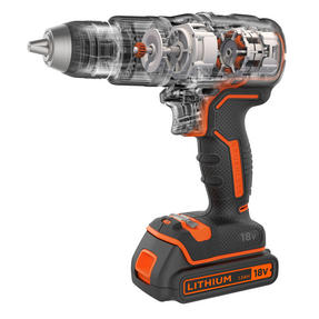 Black + Decker BL188GB Brushless Two Gear Hammer Drill,18V, 400mA charger Thumbnail 2