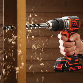 Black + Decker BL188GB Brushless Two Gear Hammer Drill,18V, 400mA charger Thumbnail 6