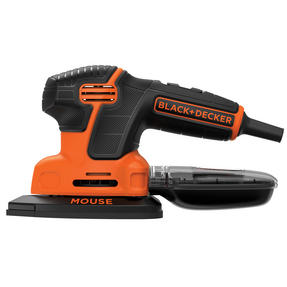 Black + Decker KA2000GB Mouse Sander with Three Mesh Sheets, 120 W, Orange