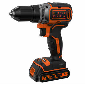 Black + Decker BL186GB Drill Driver with Battery, 18 V, 400mA Carton