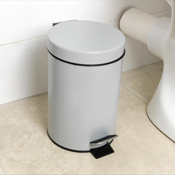 Beldray Toilet Roll Storage and Brush Set with 3L Soft Close Bin, Grey Thumbnail 7