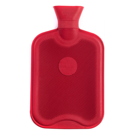 Beldray 2 Litre Ribbed Hot Water Bottle, Set of 2, Red Thumbnail 3