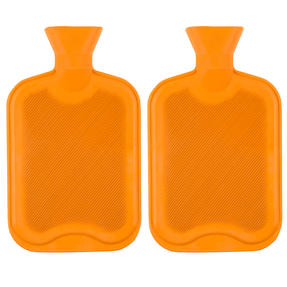 Beldray COMBO-3384 2 Litre Ribbed Hot Water Bottle, Set of 2, Orange