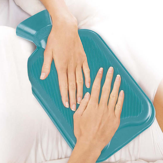 Beldray 2 Litre Ribbed Hot Water Bottle, Set of 2, Turquoise Thumbnail 2