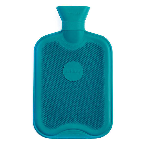 Beldray 2 Litre Ribbed Hot Water Bottle, Set of 2, Turquoise Thumbnail 3