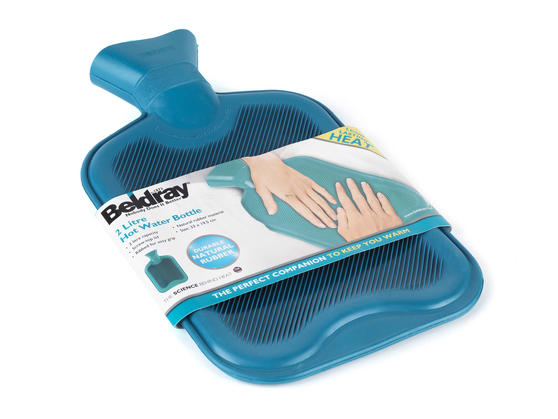 Beldray 2 Litre Ribbed Hot Water Bottle, Set of 2, Turquoise Thumbnail 6