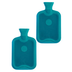 Beldray COMBO-3385 2 Litre Ribbed Hot Water Bottle, Set of 2, Turquoise