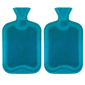 Beldray COMBO-3385 2 Litre Ribbed Hot Water Bottle, Set of 2, Turquoise Thumbnail 1